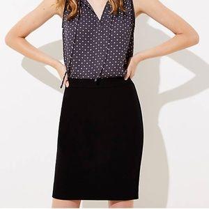 LOFT Black Pencil Skirt - 4 Petite